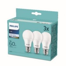 Philips LED žárovka sada 3ks 9-60W E27 806lm A60 4000K