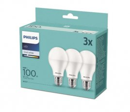 Philips LED žárovka sada 3ks 14-100W E27 1521lm A67 4000K
