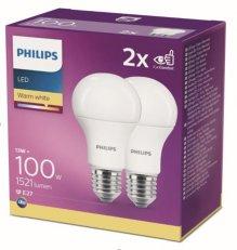 Philips LED žárovka sada 2ks 13-100W E27 1521lm A60 2700K