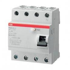 ABB FH204 AC-25/0,03 4pólový proudový chránič 25A 30mA HOME + POUKÁZKA