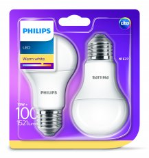 Philips LED žárovka sada 2ks 13-100W E27 1521lm A60 2700