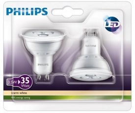 Philips LED žárovka sada 2ks GU10 3.5-35W WW
