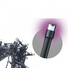 Spojovací Klasik LED vánoční řetěz, 10m, růžová