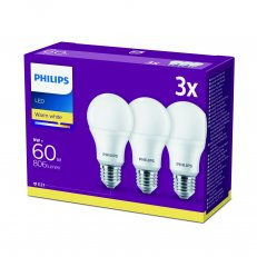 Philips LED žárovka sada 3ks 9-60W E27 806lm A60 2700K