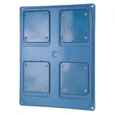 PANEL FOR 2 INTERL. V. IP55 L. BLUE